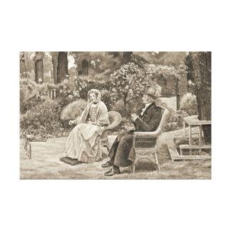 Memory's Garden 1911 Canvas Print