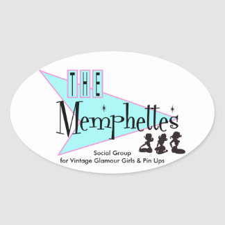 Memphettes Oval Stickers, Glossy Oval Sticker