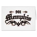 Memphis 901 greeting card