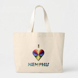 Memphis -- Azul y oro de Brown Bolsa