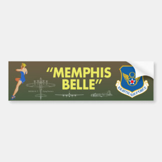 """Memphis Belle"" 8th Air Force Bumper Sticker"