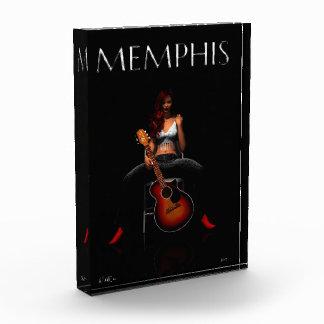 MEMPHIS :: Black Velvet Acrylic Award