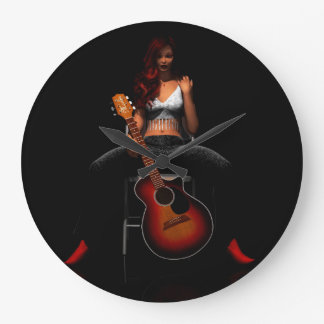 'MEMPHIS::Black Velvet' acrylic wall clock