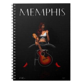 MEMPHIS :: Black Velvet Spiral Notebook
