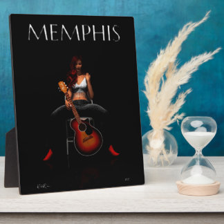 'MEMPHIS::Black Velvet' tabletop plaque with easel