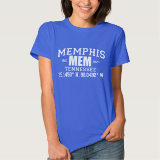MEMPHIS city incorporated coordinates tee