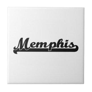 Memphis Classic Retro Name Design Tile