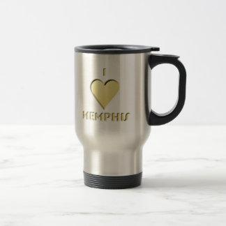 Memphis -- Cream 15 Oz Stainless Steel Travel Mug