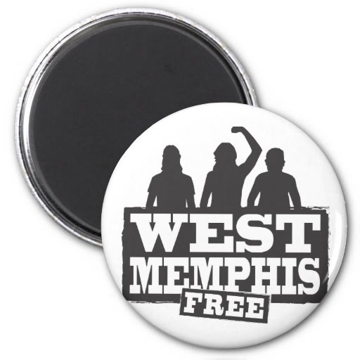 Memphis del oeste tres imán redondo 5 cm