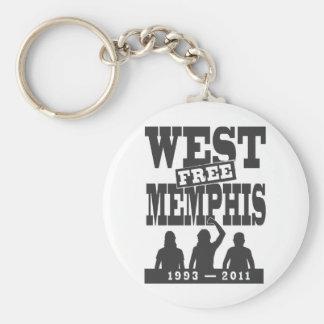 Memphis del oeste tres llavero personalizado