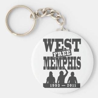 Memphis del oeste tres llaveros personalizados