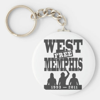 Memphis del oeste tres llavero redondo tipo pin