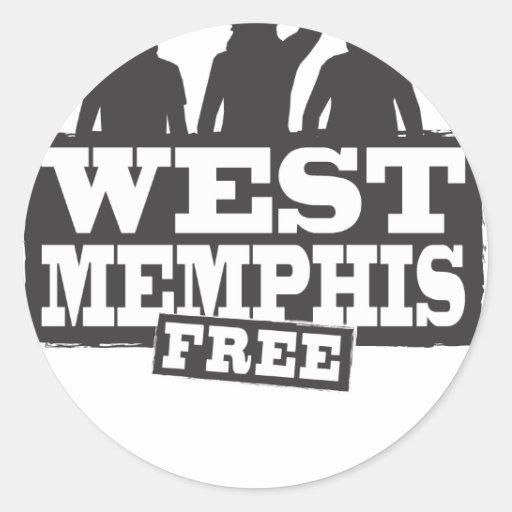 Memphis del oeste tres pegatina redonda