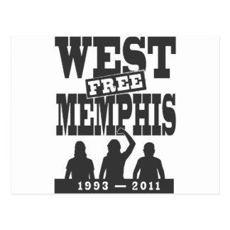 Memphis del oeste tres postal