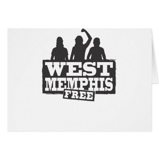 Memphis del oeste tres tarjeta de felicitación