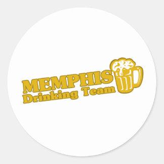 Memphis Drinking Team tee shirts Round Sticker