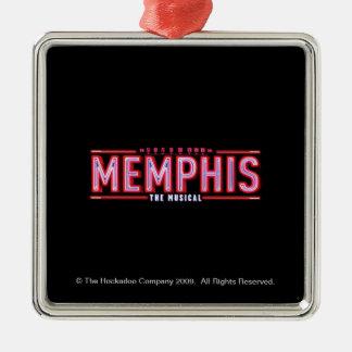 MEMPHIS - el logotipo musical Adorno Navideño Cuadrado De Metal