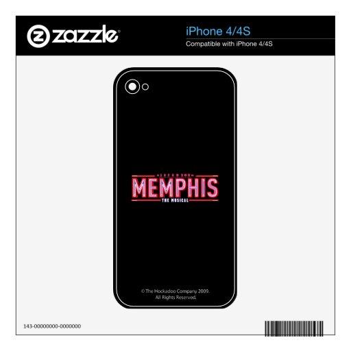 MEMPHIS - el logotipo musical Calcomanías Para iPhone 4