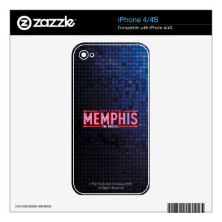 MEMPHIS - el logotipo musical iPhone 4S Calcomanías