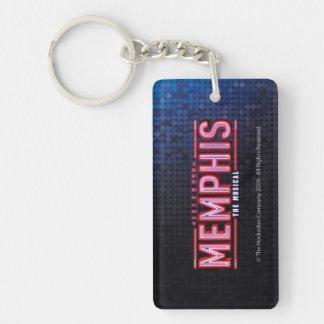 MEMPHIS - el logotipo musical Llavero Rectangular Acrílico A Una Cara