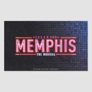 MEMPHIS - el logotipo musical Pegatina Rectangular
