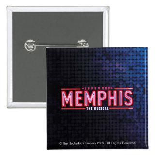 MEMPHIS - el logotipo musical Pin Cuadrado