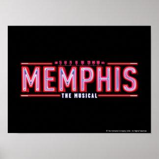 MEMPHIS - el logotipo musical Póster