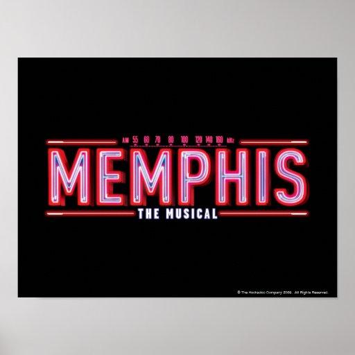 MEMPHIS - el logotipo musical Poster