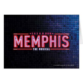 MEMPHIS - el logotipo musical Tarjeta De Felicitación