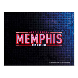 MEMPHIS - el logotipo musical Tarjeta Postal