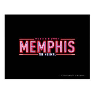 MEMPHIS - el logotipo musical Tarjetas Postales