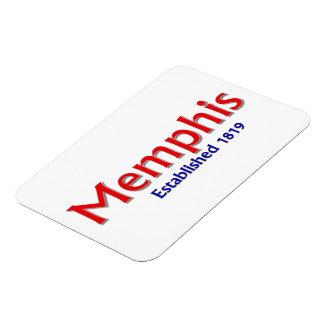 """Memphis Established 3""""x4"""" Flexible Photo Magnet"""