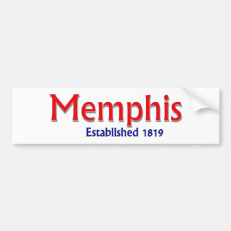 Memphis Established Vehicle Bumper Sticker