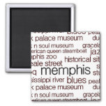 Memphis in Brown 2 Inch Square Magnet