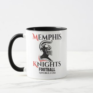 Memphis Knights Logo Black Two-toned Mug