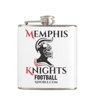 Memphis Knights Logo Flask