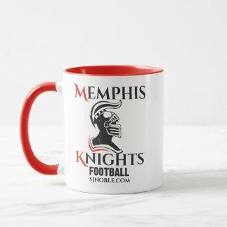 Memphis Knights Logo Red Ringer Mug