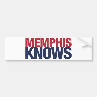 Memphis Knows Bumper Sticker