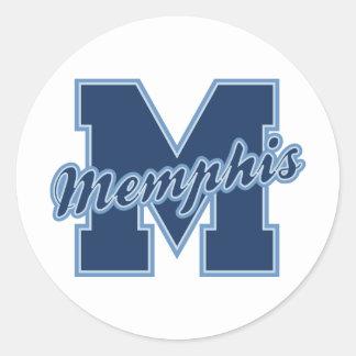 Memphis Letter Classic Round Sticker