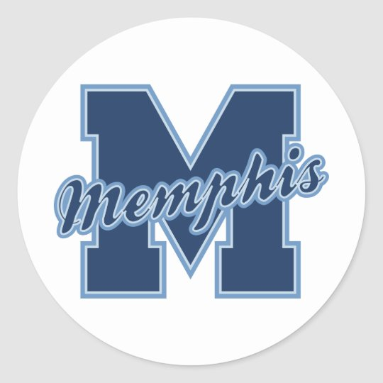 Memphis Letter Classic Round Sticker