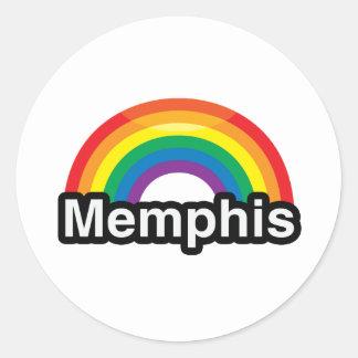MEMPHIS LGBT PRIDE RAINBOW -.png Round Sticker
