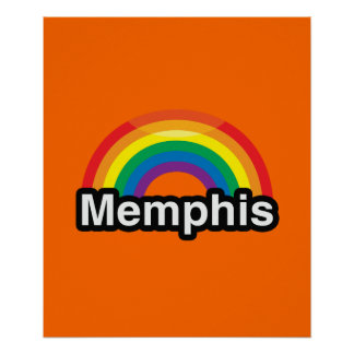 MEMPHIS LGBT PRIDE RAINBOW POSTERS