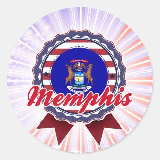 Memphis, MI Round Sticker