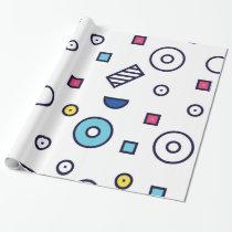 Memphis Pattern Pop Art 80s Fun Pattern Wrapping Paper