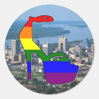 Memphis Pride Classic Round Sticker