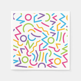 Memphis Retro Colorful Abstract Style Paper Napkin