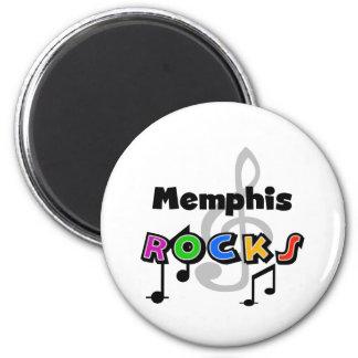 Memphis Rocks 2 Inch Round Magnet
