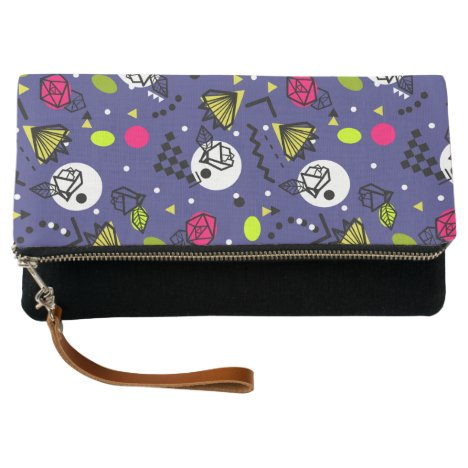 Memphis Rose Graphic Print Clutch