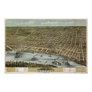 Memphis (Ruger) - 1870 BigMapBlog.com Poster