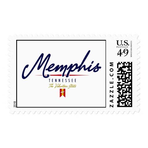 Memphis Script Postage Stamps